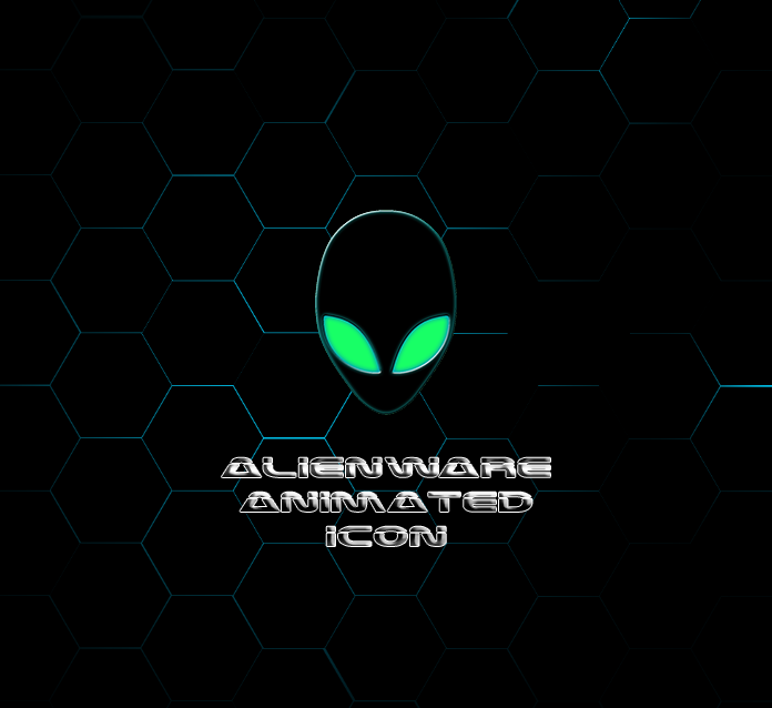 Animated Alienware Icon For Rainmeter by achintyagk