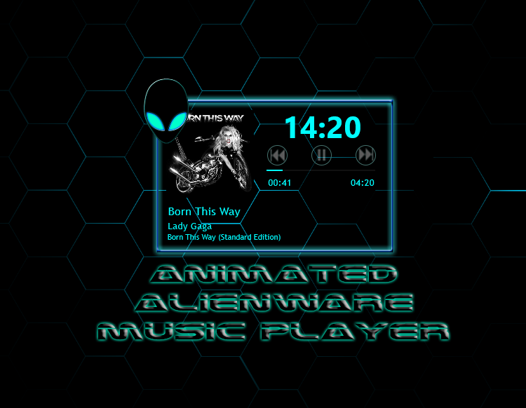 Animated Alienware Music Player by achintyagk