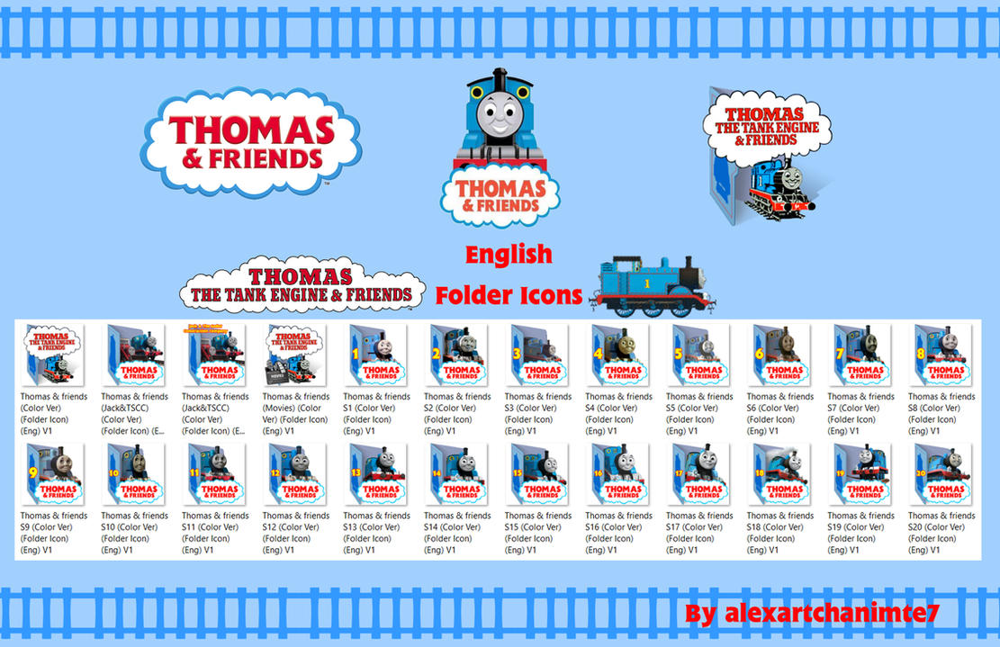 Thomas and Friends Folder icon (Color Ver)(Eng) by alexartchanimte7 ...