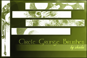 Circle Grunge Brushes by shoobu