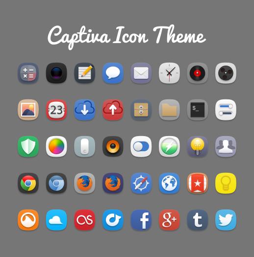 Captiva Icon Theme by bokehlicia