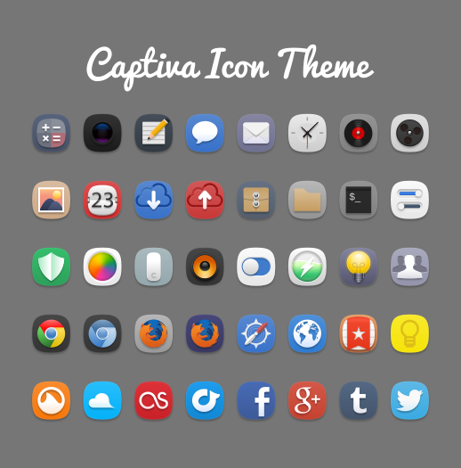 captiva icon theme by bokehlicia on deviantart