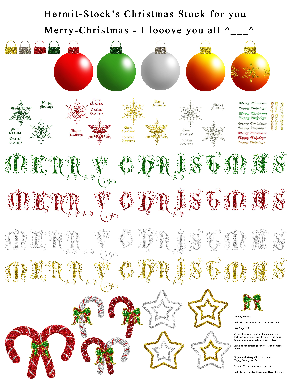Christmas Stock - Glitter