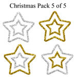 Christmas pack 5 of 5 - Stars2 by Hermit-stock