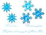 Cristal snowflakes stock
