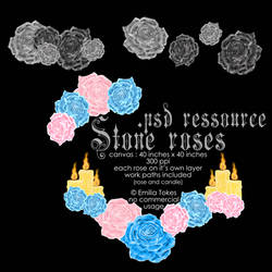 Stone rose psd (in a rar file) ressource file by Hermit-stock