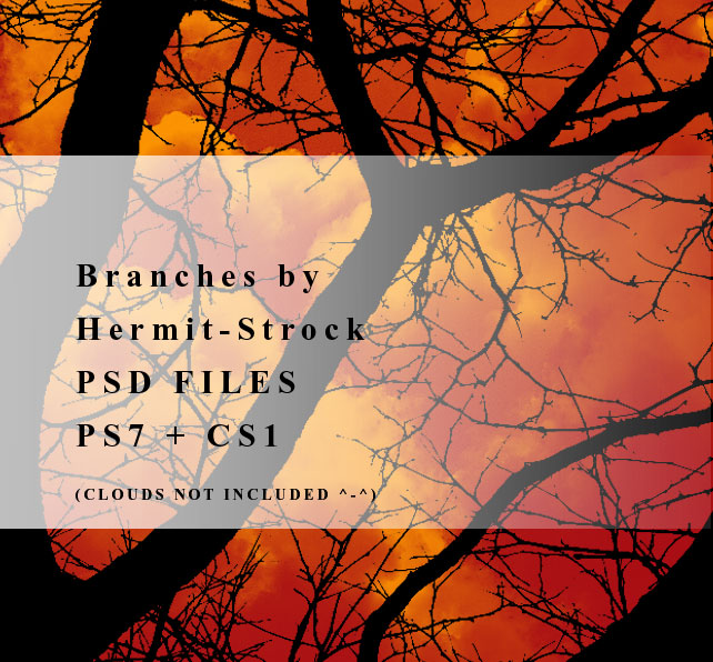 Branches brushes - PSD files