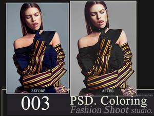 PSD coloring FASHION studio 003