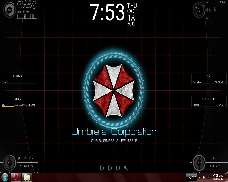 umbrella corp theme by thedarknessdan customization skins themes