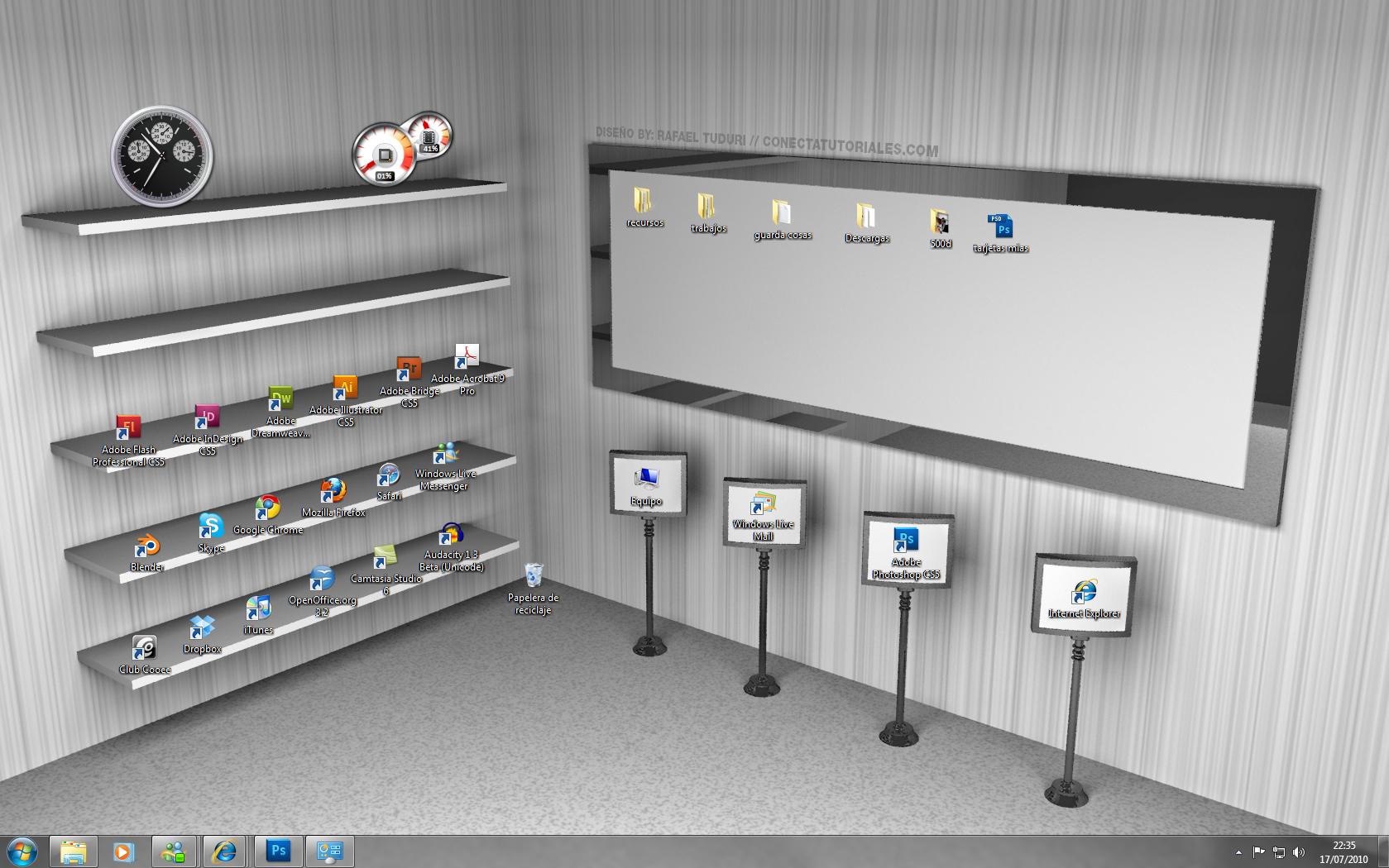 Fondo escritorio estanteria