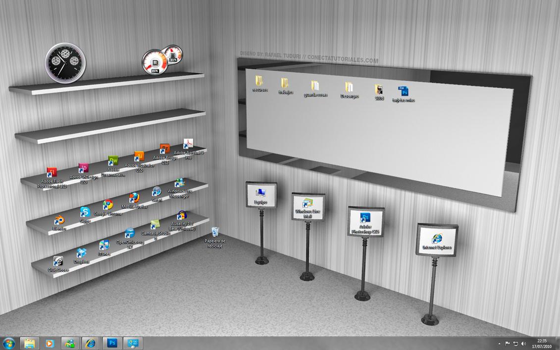 Fondo escritorio estanteria by conectapublicidad on deviantart - Escritorios plegables de pared ...