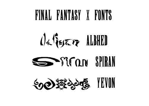 Final Fantasy X Fonts by ShinLadyAnarki