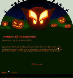 Animated Halloween pumpkin CSS by calleena