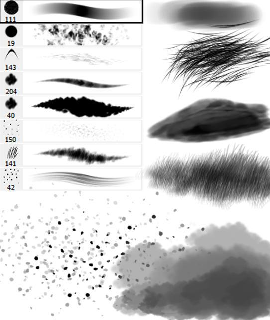 Random brushes by calleena
