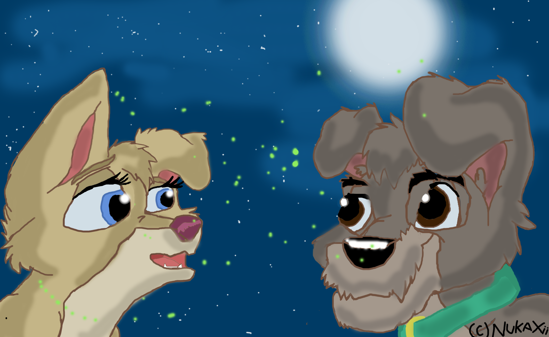 Lady And The Tramp Ii Angel And Scamp At Night By Nukaxii On Deviantart