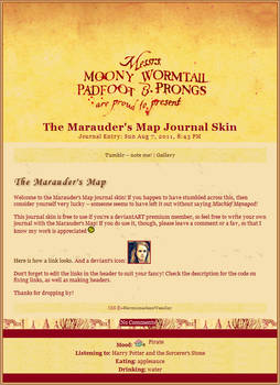 Marauder's Map Journal Skin