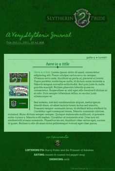 Slytherin Journal Skin