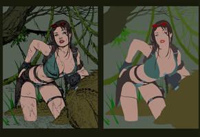 Tomb Raider Inks Devgear Flats Vic55b by vic55b