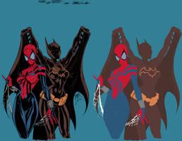 batgirl spidergirl Campbell Garner flats vic55 by vic55b