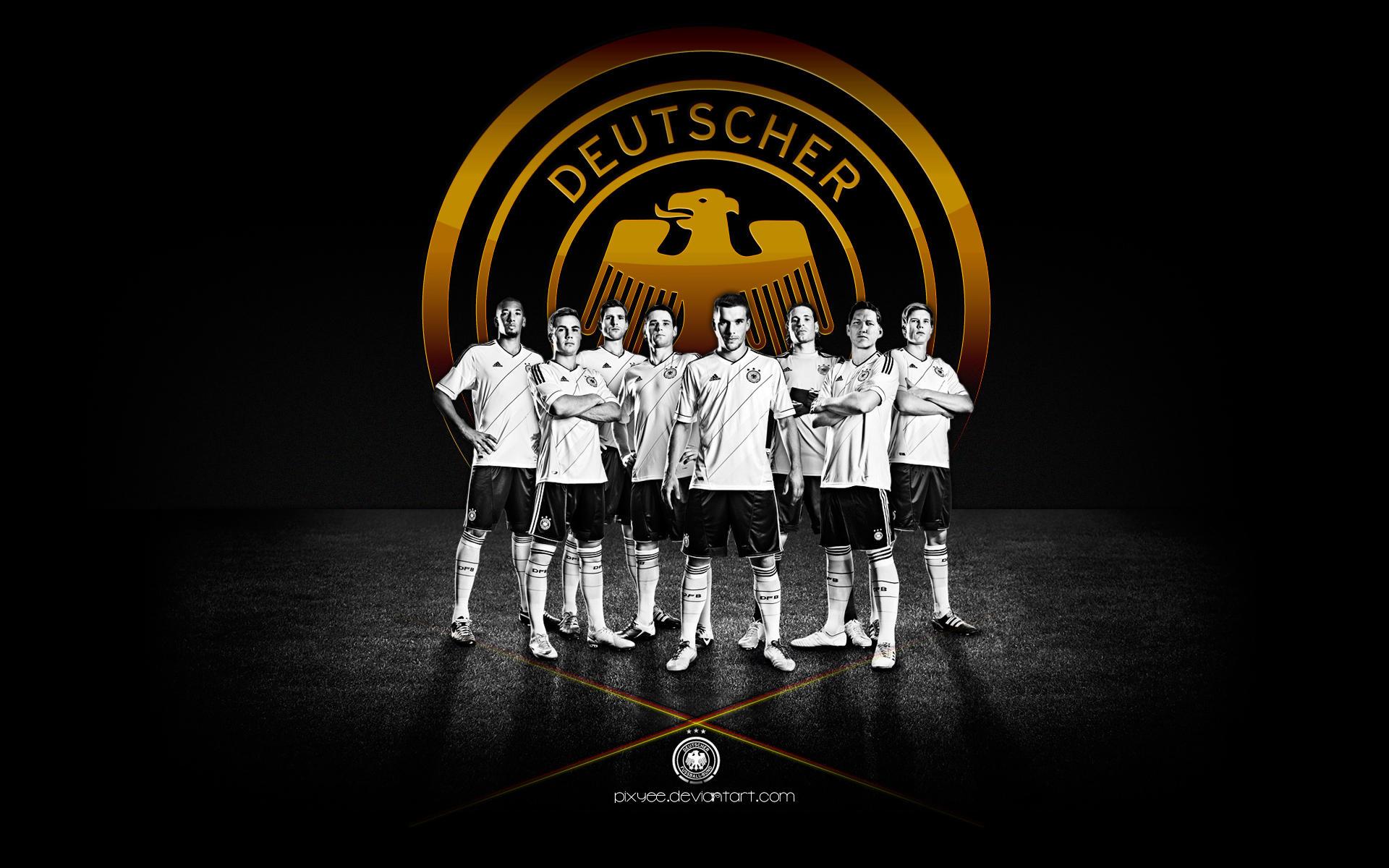 deutscher fussball bund 2012 wallpaper germany by pixyee. Black Bedroom Furniture Sets. Home Design Ideas