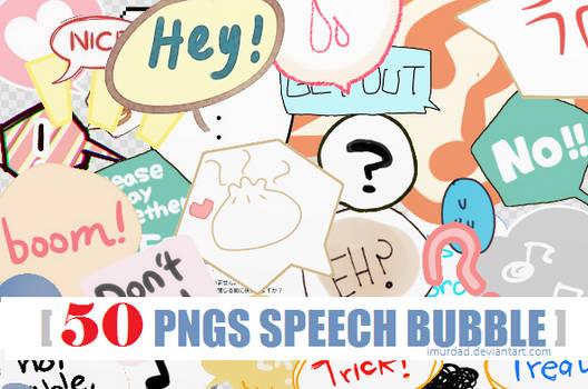 [ PACK ] 50 PNG Speech Bubble