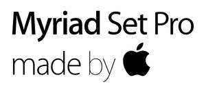 Myriad Set Pro family pack by Apple