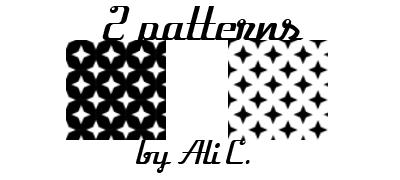 Diamonds b/w Patterns by stonerscole