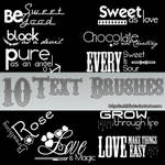 10 Text Brushes