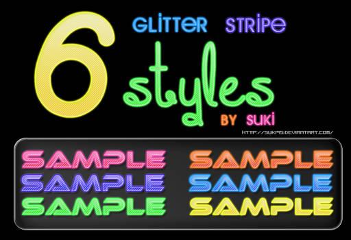 6 Glitter Stripe Styles by Suki