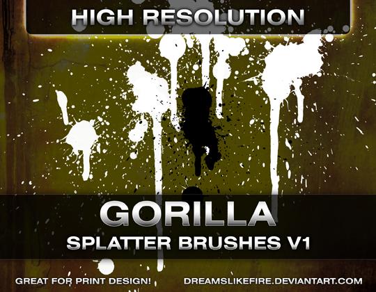 Gorilla Splatter Brushes v1