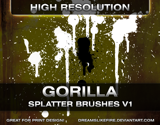 Gorilla Splatter Brushes v1 by dreamslikefire