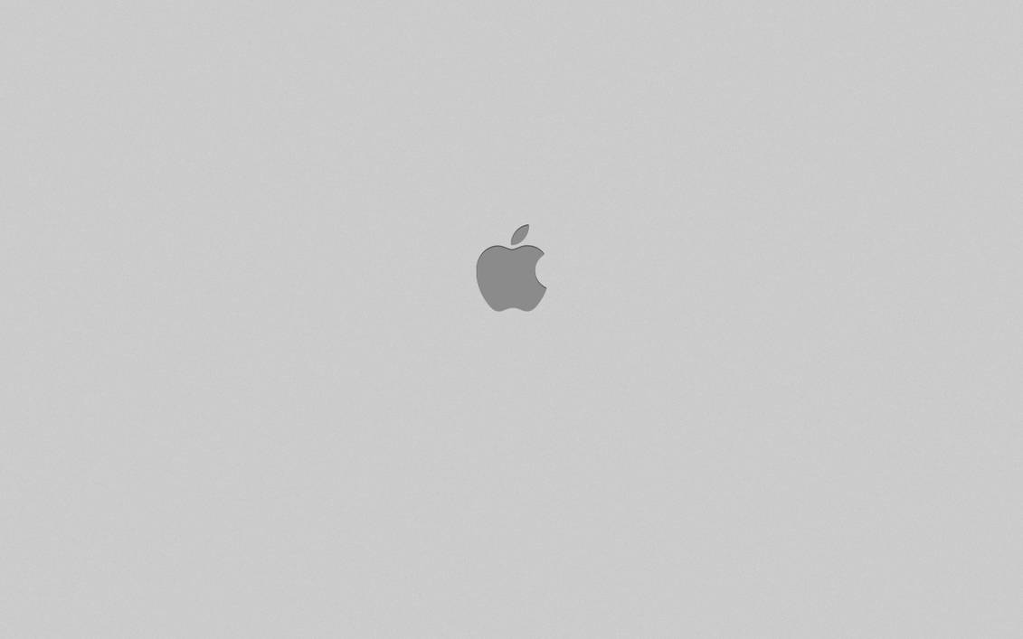 Simple Gray Apple Wallpaper By Bruno-Philipe On DeviantArt