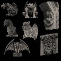 Gothic Gargoyles by midnightstouch