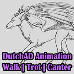 DutchAD Animation WIP: Walk, Trot, Canter