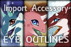 Free-to-Use Kukuri Import Accessory - EYE OUTLINES by PriestessShizuka