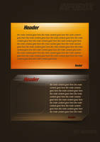 Content box psd by NishithV