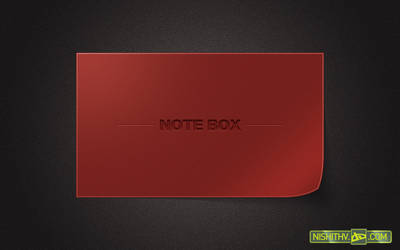 Note Box PSD