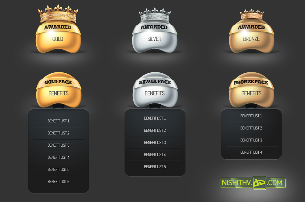 Price Table and Award Set PSD by NishithV