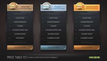 Price Table Set V2 PSD by NishithV