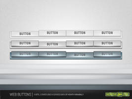 Web Button Template PSD by NishithV