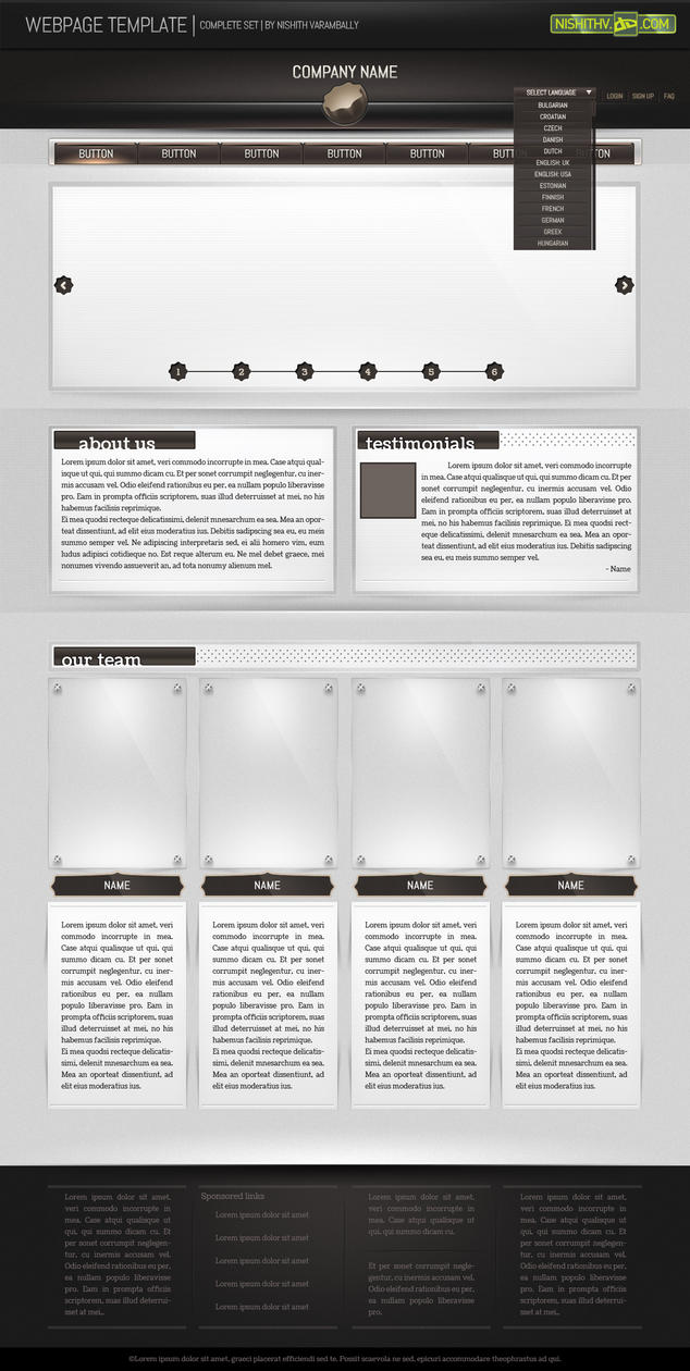 Webpage Template free PSD by NishithV