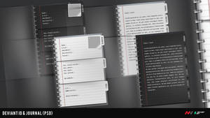Journal and ID Template PSD