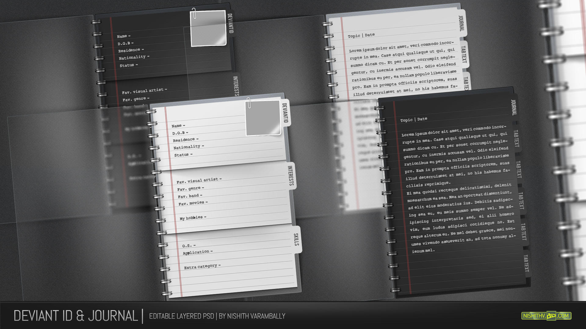 Journal and ID Template PSD by NishithV