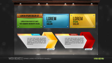 Web Boxes PSD by NishithV