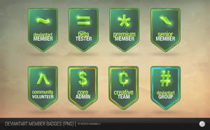Old DeviantArt Member Badges PNG by NishithV