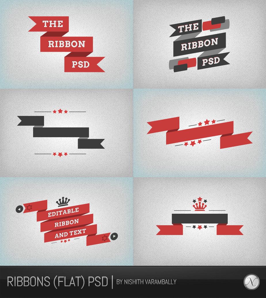 Ribbons (flat) PSD by NishithV