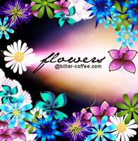 PSD Download: Flower Flowery by coffeeonmyshirt