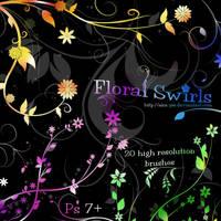 Floral Swirl Brushes by Aka-Joe