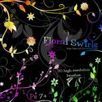 Floral Swirl Brushes