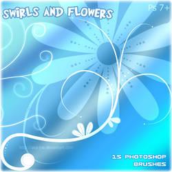 Swirl and Flower Brushes by Aka-Joe
